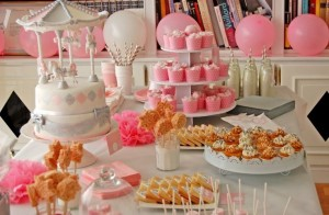 sweet table - joliebabyshower.com