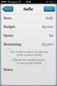 Application Wedd Budget Mariage