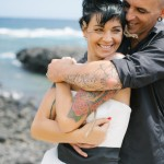 Shooting inspiration mariage rock tatouages plage