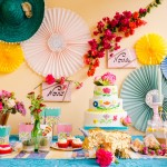 Shooting mariage mexicain sweet-table pinata fleurs