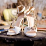 Shooting mariage mexicain chaussures