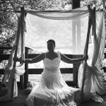 mariage, décoration, nature, robe