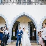 mariage, église, robe, costume,