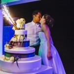 mariage, hôtel, réunion, gâteau, pièce montée,