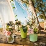 Mariage Réunion Ma Régisseuse wedding planner cérémonie laïque plage filaos fleurs arche