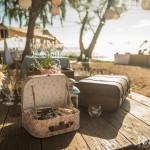 Mariage Réunion Ma Régisseuse wedding planner cérémonie laïque plage filaos valise urne