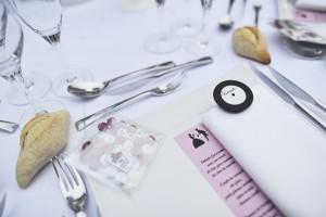 menu, marque place, M&M's