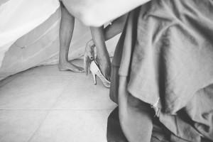 robe de mariée, chaussures
