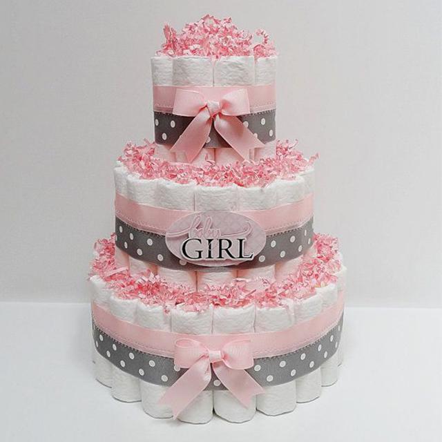babyshower, gâteau de couches