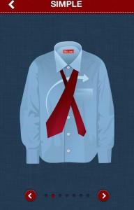Noeud de cravate simple