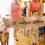 Mariage Ma Régisseuse wedding planner La Réunion église banderole