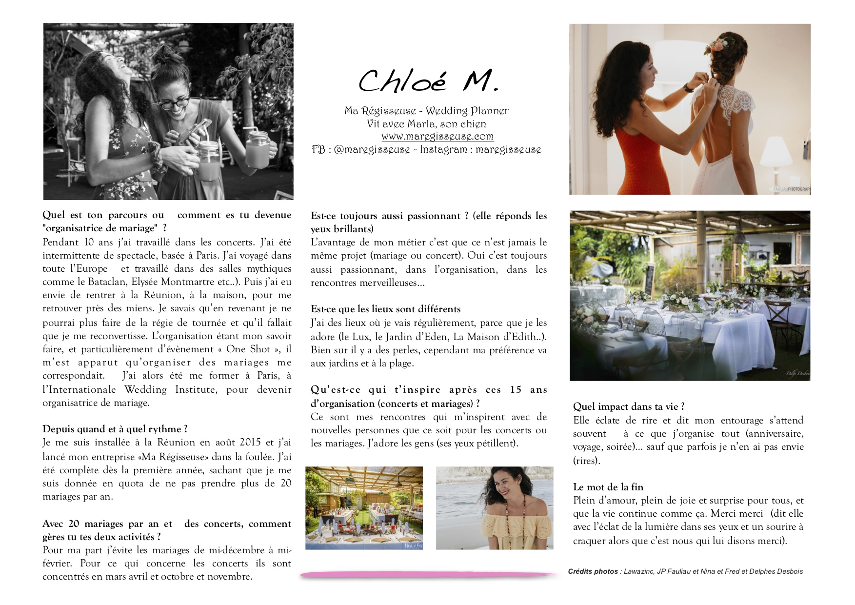 interview wedding planner La Maison d'Edith