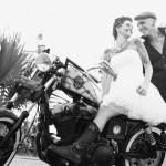 Shooting inspiration mariage rock tatouages moto