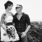 Shooting inspiration mariage rock fleurs tatouages