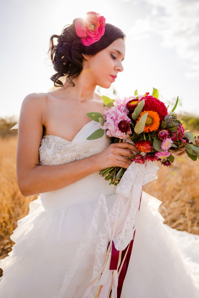 Shooting mariage mexicain fleurs