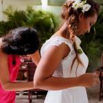 Mariage Réunion Ma Régisseuse wedding planner préparatifs robe coiffure fleurs tresse