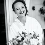 mariage, rire, coiffure, maquillage, bouquet,
