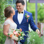 mariage, bouquet, robe, costume,