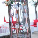 mariage, invités, plage,