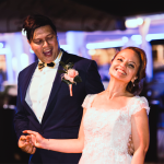 mariage, rire, robe, costume, fun,