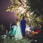 mariage, robe, lumière, feu d'artifice,