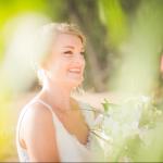mariage, mariée, nature,