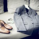 mariage, costume, chaussure