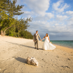 mariage, réunion, robe, plage, nature,