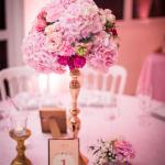 mariage, décoration, fleurs, rose,