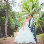 mariage, robe, réunion, bouquet,
