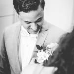mariage, costume, fleurs,