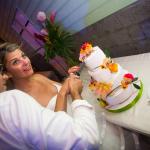 mariage, gâteau, fleurs, wedding cake,