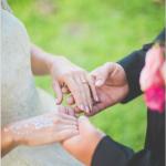 mariage, main,