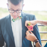 mariage, fleur, costume,