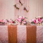 mariage, décoration, rose,