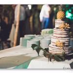 mariage, décoration, fleurs, gâteau, ananas