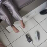 mariage, garçon, chaussure