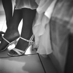 mariage, chaussure,
