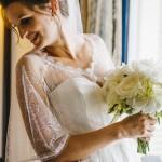 mariage, robe, bouquet, voile,