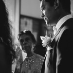 mariage, costume, fleur,