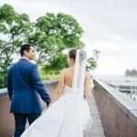 mariage, réunion, robe, costume, nature,