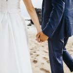 mariage, robe, plage, voile,