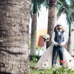 mariage, bouquet, surprise,