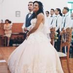 mariage, église, robe,