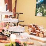 mariage, décoration, gâteau